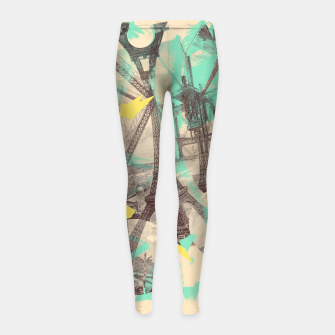 Miniature de image de Paris Inception Girl's Leggings, Live Heroes