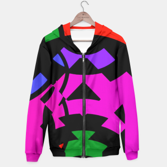 Thumbnail image of Purple Raspberry Zigzag Pattern  Hoodie, Live Heroes
