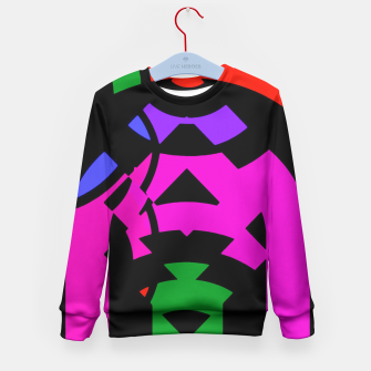 Thumbnail image of Purple Raspberry Zigzag Pattern  Kid's Sweater, Live Heroes