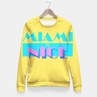 Miniature de image de MIAMI IS NICE Fitted Waist Sweater, Live Heroes