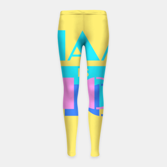 Miniature de image de MIAMI IS NICE Girl's Leggings, Live Heroes