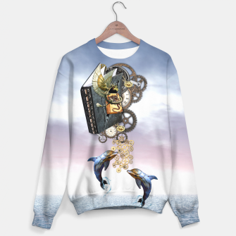 Thumbnail image of Steampunk ocean story tale Sweater, Live Heroes
