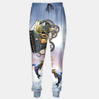 Thumbnail image of Steampunk ocean story tale Sweatpants, Live Heroes