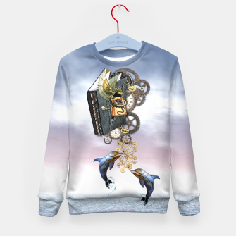 Thumbnail image of Steampunk ocean story tale Kid's Sweater, Live Heroes