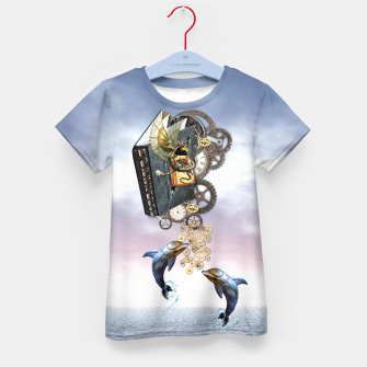Thumbnail image of Steampunk ocean story tale Kid's T-shirt, Live Heroes