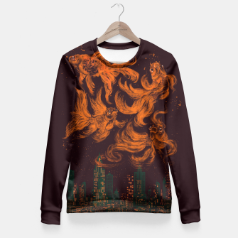 Thumbnail image of Big City Dreams Fitted Waist Sweater, Live Heroes