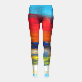 Thumbnail image of Blue Red Orange  - No.154 - ABSTRACT ART  -  Girl's Leggings, Live Heroes