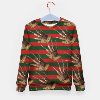 Thumbnail image of freddy krueger clothes Kid's Sweater, Live Heroes