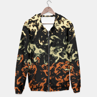 Thumbnail image of Cool Tan Orange Abstract Splatter  Hoodie, Live Heroes