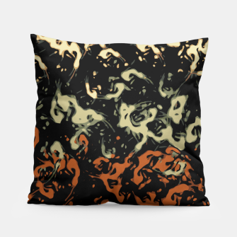 Thumbnail image of Cool Tan Orange Abstract Splatter  Pillow, Live Heroes