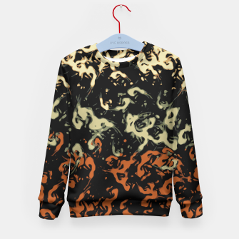 Thumbnail image of Cool Tan Orange Abstract Splatter  Kid's Sweater, Live Heroes