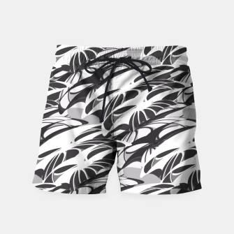Alien Troops - Black & White Swim Shorts thumbnail image