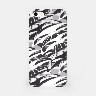 Alien Troops - Black & White iPhone Case thumbnail image
