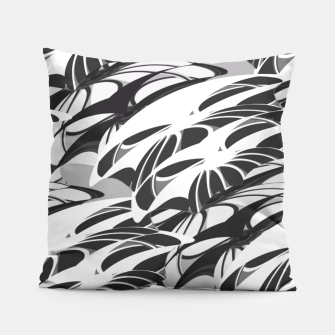 Alien Troops - Black & White Pillow thumbnail image