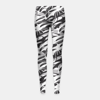 Alien Troops - Black & White Girl's Leggings thumbnail image