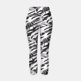 Thumbnail image of Alien Troops - Black & White Yoga Pants, Live Heroes