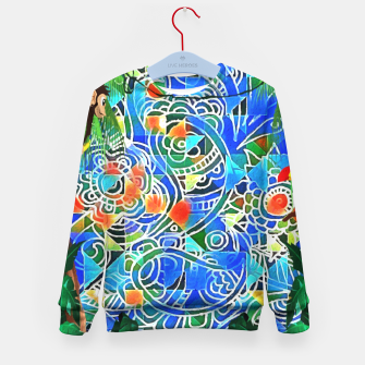 Thumbnail image of Jungle Life Abstract  Kid's Sweater, Live Heroes