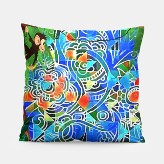 Thumbnail image of Jungle Life Abstract  Pillow, Live Heroes