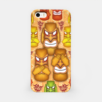 Thumbnail image of Don't See Don't Hear Don't Speak Totems iPhone Case, Live Heroes