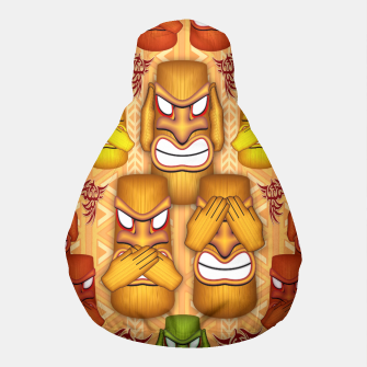 Thumbnail image of Don't See Don't Hear Don't Speak Totems Pouf, Live Heroes
