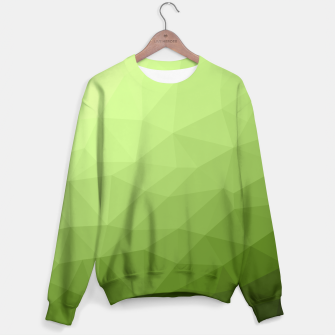 Greenery ombre gradient geometric mesh Sweater thumbnail image