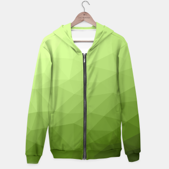 Greenery ombre gradient geometric mesh Hoodie thumbnail image