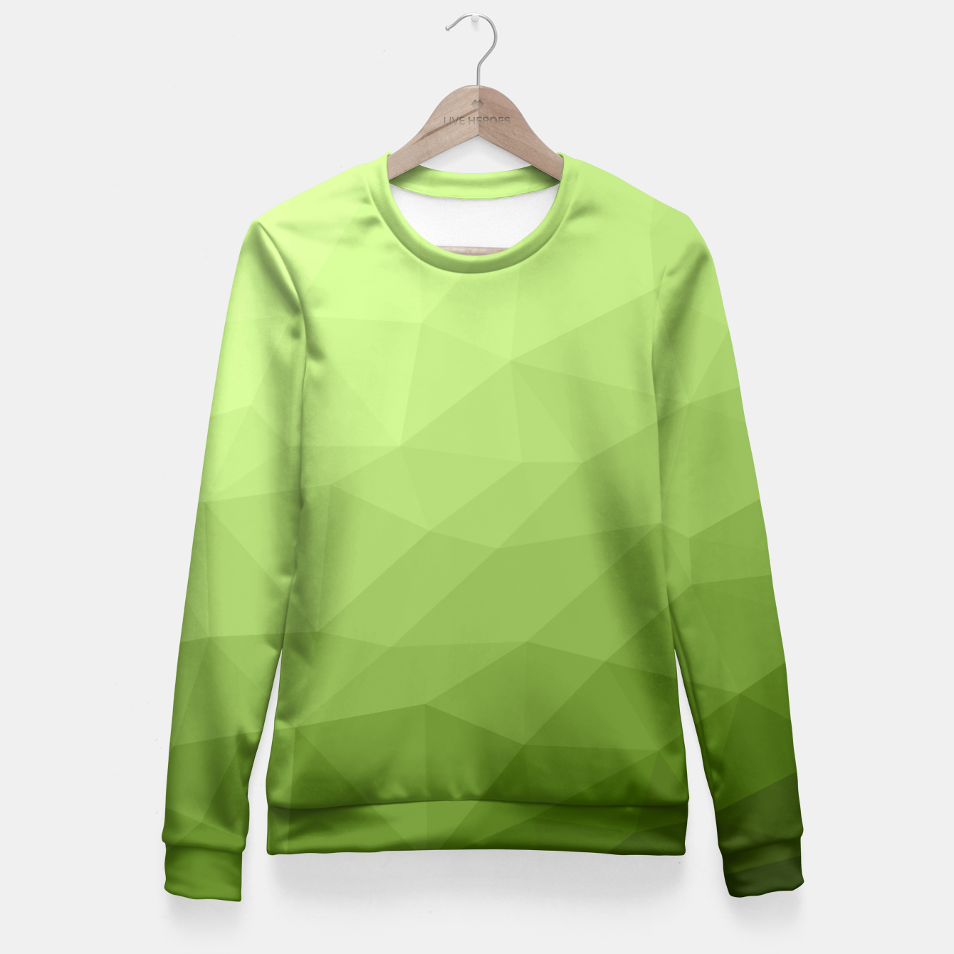 Image of Greenery ombre gradient geometric mesh Fitted Waist Sweater - Live Heroes