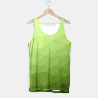 Greenery ombre gradient geometric mesh Tank Top thumbnail image