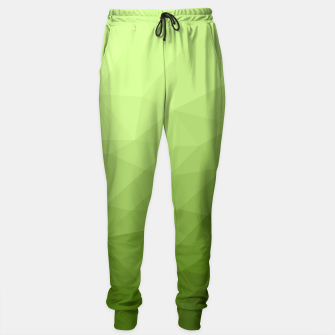 Greenery ombre gradient geometric mesh Sweatpants thumbnail image