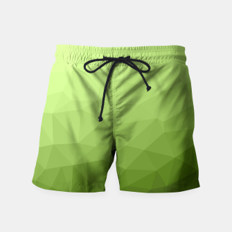 Greenery ombre gradient geometric mesh Swim Shorts thumbnail image