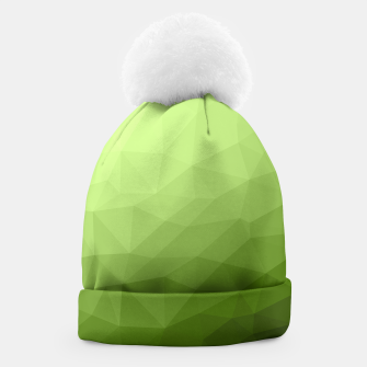 Greenery ombre gradient geometric mesh Beanie thumbnail image