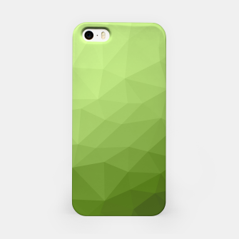 Greenery ombre gradient geometric mesh iPhone Case thumbnail image