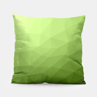 Greenery ombre gradient geometric mesh Pillow thumbnail image