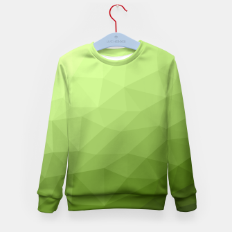 Greenery ombre gradient geometric mesh Kid's Sweater thumbnail image