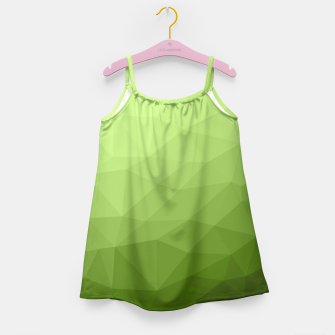Greenery ombre gradient geometric mesh Girl's Dress thumbnail image