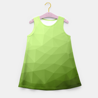 Greenery ombre gradient geometric mesh Girl's Summer Dress thumbnail image