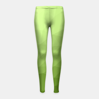 Greenery ombre gradient geometric mesh Girl's Leggings thumbnail image