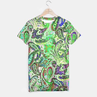 Thumbnail image of Vibrant Paisley in Bright Colors T-shirt, Live Heroes