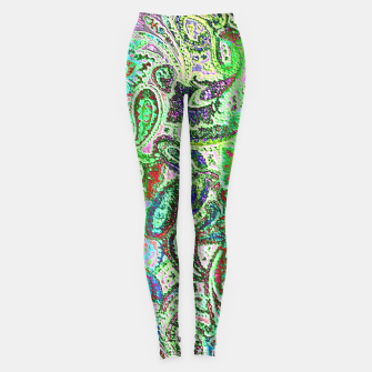 Thumbnail image of Vibrant Paisley in Bright Colors Leggings, Live Heroes