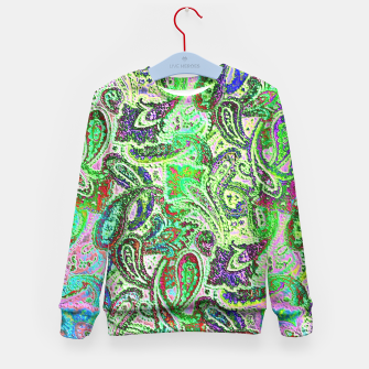Thumbnail image of Vibrant Paisley in Bright Colors Kid's Sweater, Live Heroes