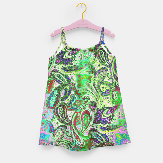 Thumbnail image of Vibrant Paisley in Bright Colors Girl's Dress, Live Heroes