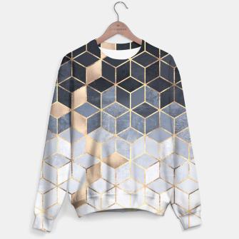 Thumbnail image of Soft Blue Gradient Cubes Sweater, Live Heroes