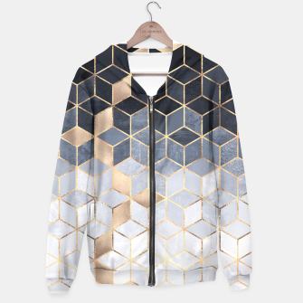 Thumbnail image of Soft Blue Gradient Cubes Hoodie, Live Heroes
