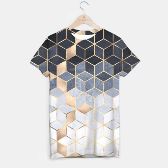 Thumbnail image of Soft Blue Gradient Cubes T-shirt, Live Heroes