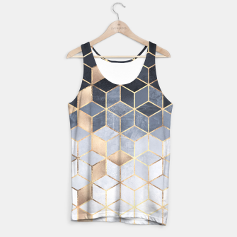Thumbnail image of Soft Blue Gradient Cubes Tank Top, Live Heroes