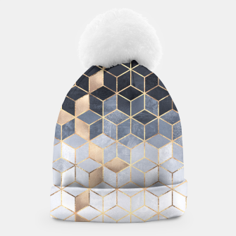 Thumbnail image of Soft Blue Gradient Cubes Beanie, Live Heroes