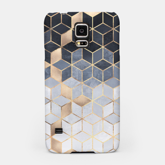 Thumbnail image of Soft Blue Gradient Cubes Samsung Case, Live Heroes