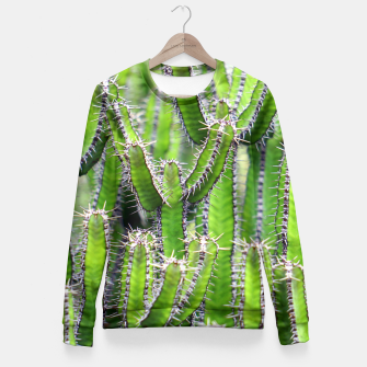 Miniaturka Set of cacti Fitted Waist Sweater, Live Heroes