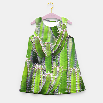 Miniaturka Set of cacti Girl's Summer Dress, Live Heroes