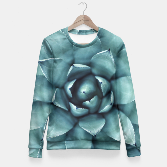 Miniaturka Turquoise cactus Fitted Waist Sweater, Live Heroes
